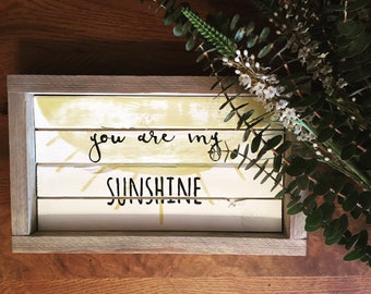 you are my sunshine large shiplap sign