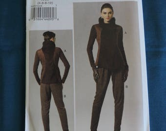Vogue V8757 Size 4-10 Misses Jacket and Tapered Pants Sewing Pattern / Uncut FF