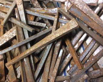 Vintage Square Cut Nails Nail 1.5 lb pound Rustic Primitive Hardware Furniture Assemblage