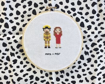 Custom Cross Stitch- Personalized Family Portrait