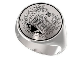 Signet Ring, Mens Ring, Personalized Ring, United Kingdom, Great Britain, Royal House of Windsor, Queen Elizabeth, British Royal Family