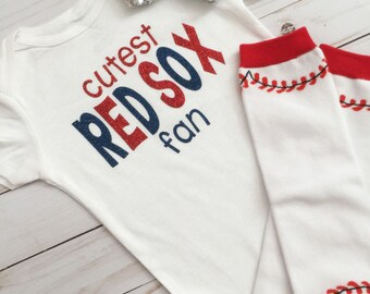 Boston Red Sox Onesie•Cutest Red Sox Fan•Boston Red Sox Baby•Boston Res Sox Girl Shirt•Boston Red Sox Toddler