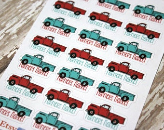 Farmers Market Planner Stickers - Reminder Stickers - Planner Stickers - Shopping Stickers - Grocery Stickers - Happy Planner - Market Shop
