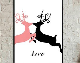 Love Poster. Wild poster. Instant Download. Wall art. Abstract art. Print art. Modern art. Typography Poster. Digital art.