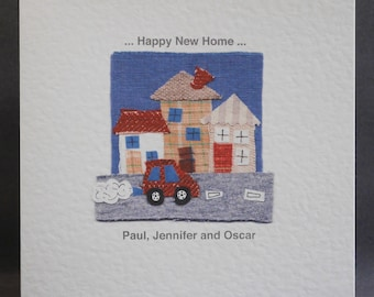 Personalised Printed New Home Card, Moving House Card, New House Card, New Home Card, House Warming Card. Please read item details.