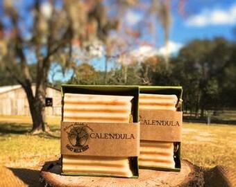 Calendula Goat Bar Soap - goats milk soap VARIOUS SCENTS