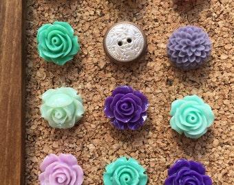 Push Pins, Thumbtacks, Thumb Tacks, Pushpins, Dorm Room Decor, Office Cubicle Decor, Gifts for Bridesmaides,Gifts for Girls,Small Gift Women
