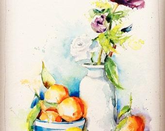Aquarelle originale livraison gratuite bouquet de for Aquarelle livraison fleurs
