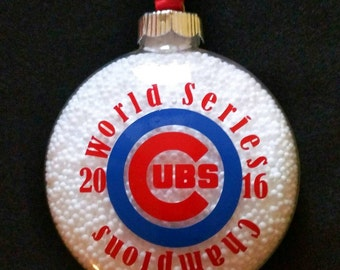 Chicago Cubs Christmas Ornament-world series-collectible - Cubs Memorabilia- World Series Champions - Cubs Gear- holiday decor