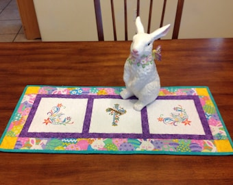 Easter Table Runner, Quilted