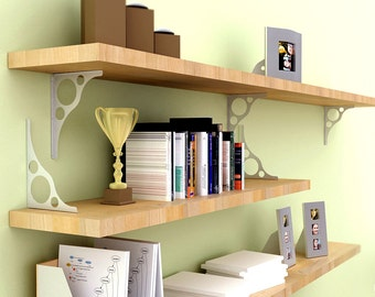 APEX Stainless Steel Shelf Brackets for Wall Mounted Shelves and Tables (from 4 to 16 inches)