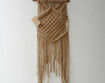 Natural Chunky Jute Macrame Wall Hanging by Courtney Blackwell