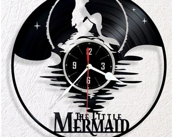 Vinyl wall clock little Mermaid