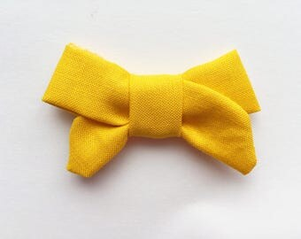 MINI Mustard Yellow Sailor Bow, baby hair bows, baby headbands, hair clips, yellow bows, sailor bows, hair bows