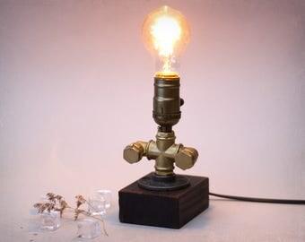 Pipe lamp - Table lamp - Edison bulb lamp - Loft lamp