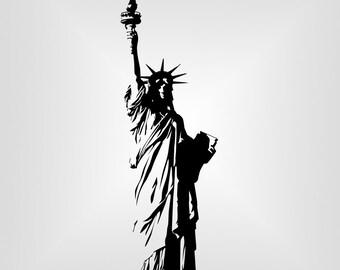 Statue of Liberty Svg, USA, NY Cutout, Vector art, Cricut, Silhouette Cameo, die cut, instant download, Digital Cut, Print Files, Pdf, Svg