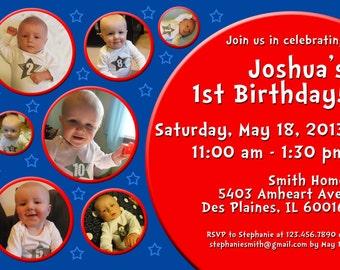 Photo 1st Birthday Party Invitation
