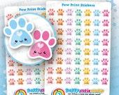 56 Cute Paw Print/Cat/Dog/Animal/Vet Stickers, Filofax, Erin Condren, Happy Planner, Kawaii, Cute Sticker, UK