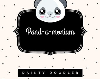Pand-a-monium Pack • Panda Stationery • Goody Bag • Lucky Dip • Gift for her • Surprise • Party Bag • Panda Pen