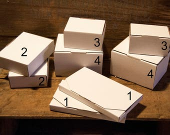 Small cardboard gift boxes, White boxes, Packaging Supplies, Flat pack Boxes, Plain packaging, Cardboard jewelry boxes, Display Boxes,
