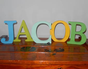 Wooden letters for nursery, 15cm wooden letters, 20cm wooden letters, 25cm wooden letters, Plain painted wooden letters