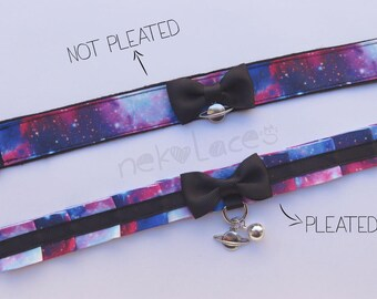 I come from space - Galaxy tug proof collar - NekoLaces