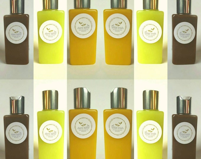 LOTION/OIL x 3  Gift Set.  Mango, Hemp & Chocolate Seaweed Collection. Natural Ingredients.  No water or preservatives .