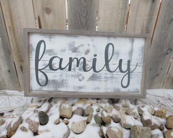 Family - Custom Wooden Sign - Wall Decor