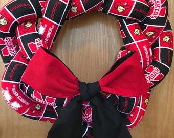 Nebraska CornHuskers Wreath - Nebraska Huskers - University of Nebraska Wreath - College Football Decor - Football Wreath