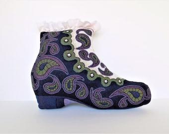 1960's Mod Shoe Pillow ~ Psychedelic 60's Home Decor ~ Beatle Boot Pillow