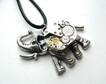 Steampunk jewelry Elephant pendant Steam punk Elephant vintage Vintage Steampunk gift Steampunk animals Elephant gift