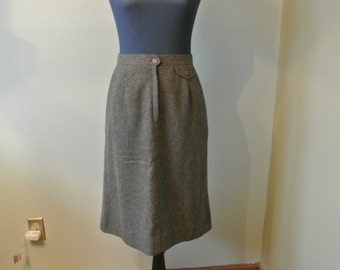 70s/80s Villager Wool/Polyester A Line Skirt