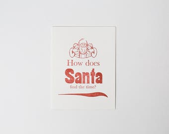 How does Santa find the time?