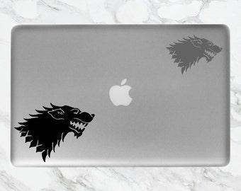 House of Stark Laptop Sticker   Game of Thrones Sticker   Stark Sticker   Game of Thrones