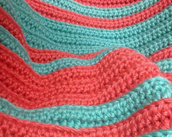 Chunky Ribbed Crochet Blanket