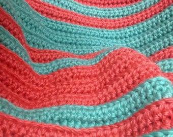 Chunky Ribbed Crochet Blanket