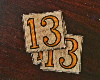 Lucky 13 Handmade Canvas Patch