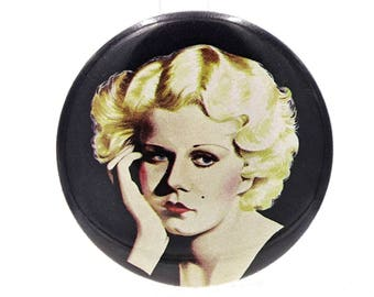Vintage Jean Harlow Button Pin