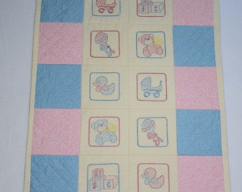 Pram Quilt, Buggy Quilt, Baby Quilt, Stroller Quilt, Baby Gift, Baby Shower Gift