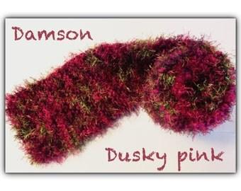 Luxury Fluffy Scarf - Damson