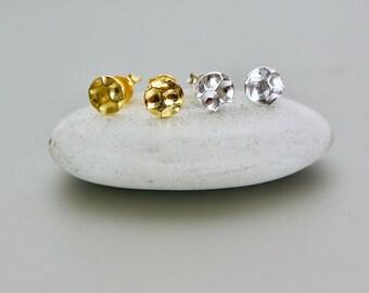 Gold And Silver Studs, Earring Set,  Real Silver, Minimalist Earrings, Bohemian Jewelry, Simple Earrings,  Ear Stud, (E27,27/G)