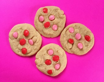 Valentine's Day M&M Cookie Soap - Chocolate Chip Cookie - Cookie Soap - Homemade Soap - Handmade Soap - Dessert Soap - Food Soap