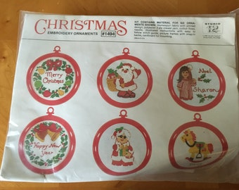 Christmas Embroidery Ornaments Kit Set of Six by: Studio Twelve
