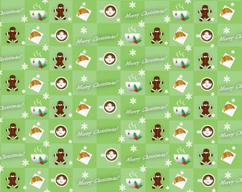 Christmas wrapping paper repeated pattern