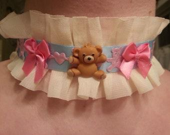 Snuggly Teddy Bear Choker