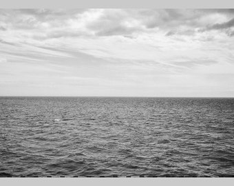 Postcard water black and white