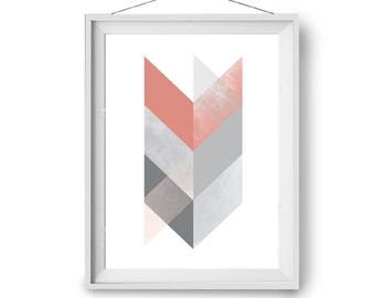Print chevron etsy for Minimal art vzla