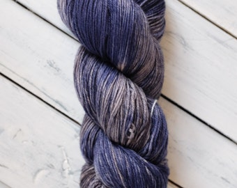 Faded Denim - Fingering Sock Hand Dyed Yarn