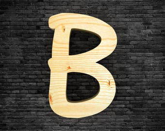 Letters in wood - B