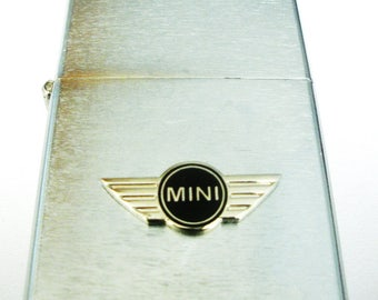 Mini Cooper Brushed Chrome Windproof Lighter